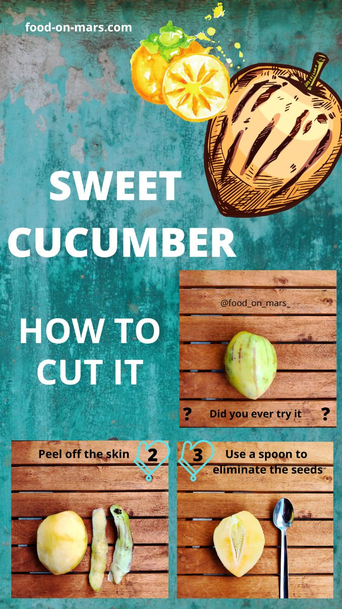 Sweet cucumber tutorial