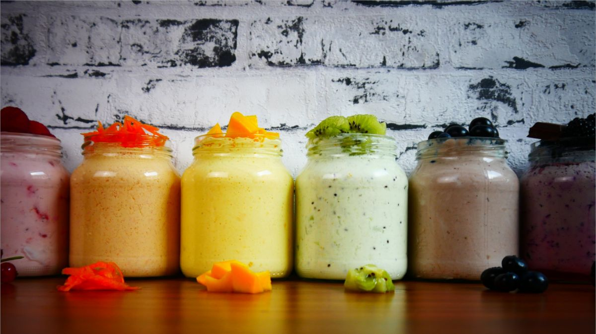 Colorful smoothies ideas