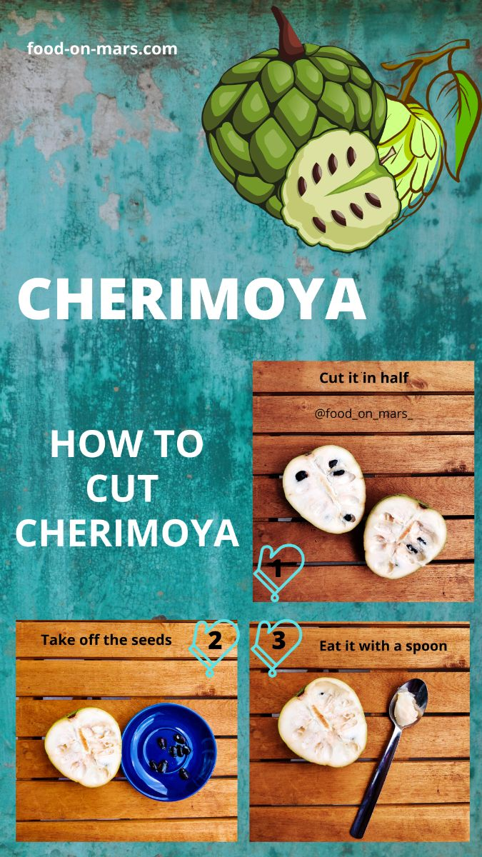 Tutorial to eat cherimoya
