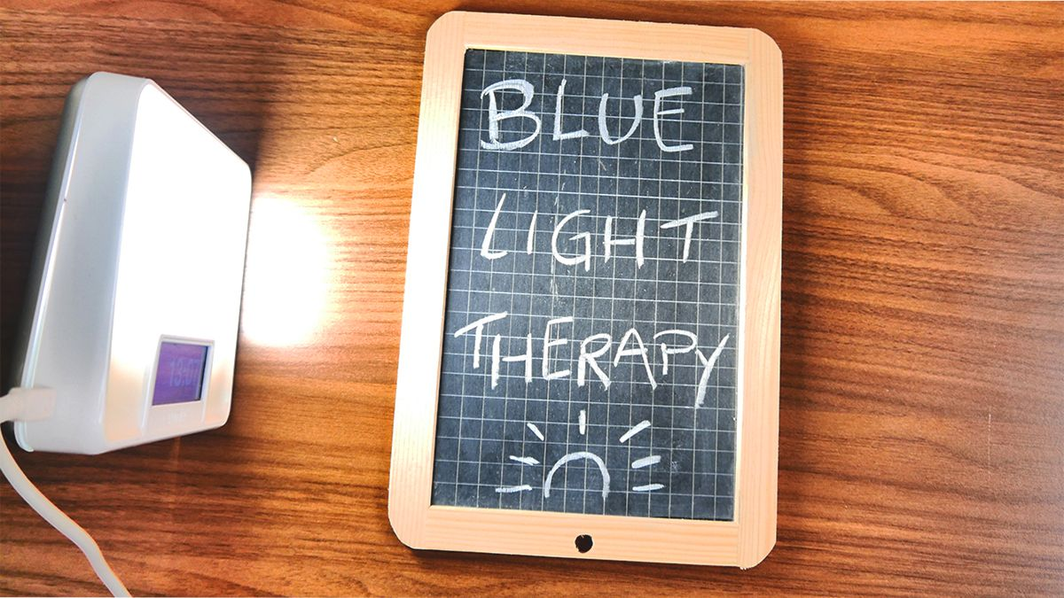 Blue light lamp