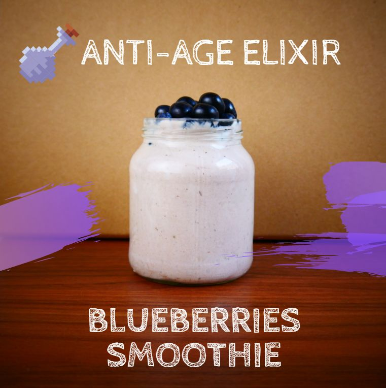 Blueberry smoothie for anti age